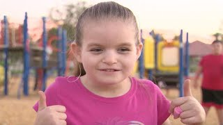 California girl hears overwhelmed with emotion after hearing for the first time