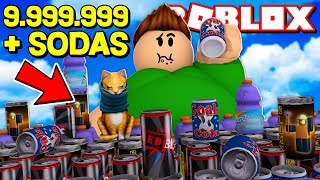 WE DRINK 9,999.999 SODAS in ROBLOX !!