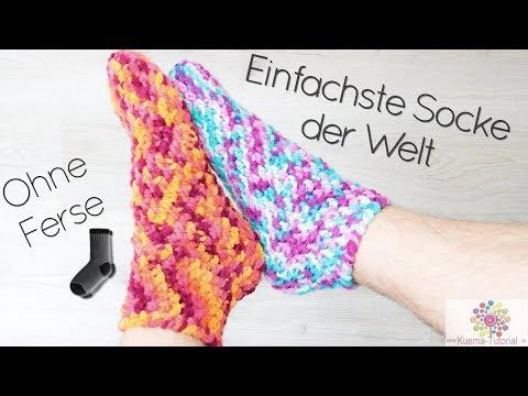 Youtube-Tutorial: Easy Peasy Socken - Häkeln Ohne Ferse  Schnell   Einfach   für Anfänger