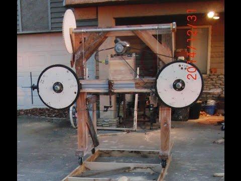 Homemade Wood Bandsaw mill walk around