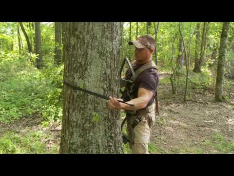 High Chair Deer Stand The Rocking Store Summit Trophy & Stump | Safety Video Doovi