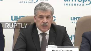 Russia: Grudinin To Shave His Moustache Only If He Hears 'elections Were Fair'