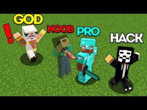 Minecraft Battle: NOOB vs PRO vs HACKER vs GOD: INVISIBLE NOOB BATTLE CHALLENGE / Animation