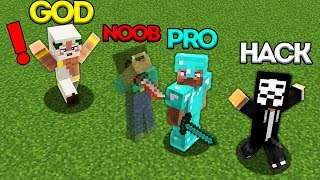 Minecraft Battle: NOOB vs PRO vs HACKER vs GOD: INVISIBLE NOOB BATTLE CHALLENGE / Animation