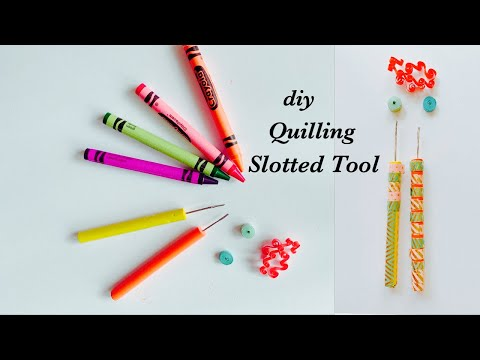 How To Make Quilling Slotted Tool/Handmade Quilling Slotted Tool/diy quilling tool