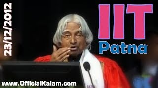 Dr Apj Abdul Kalam At Iit Patna 1st Convocation, Dec 23 2012