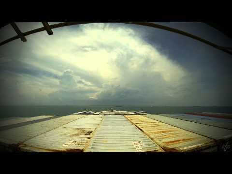 Time-lapse (60x): transit Malacca Strait / arrival Port Klang (Malaysia) [4K / UHD].