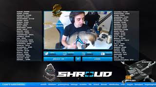 Shroud showing his new dog troy on stream