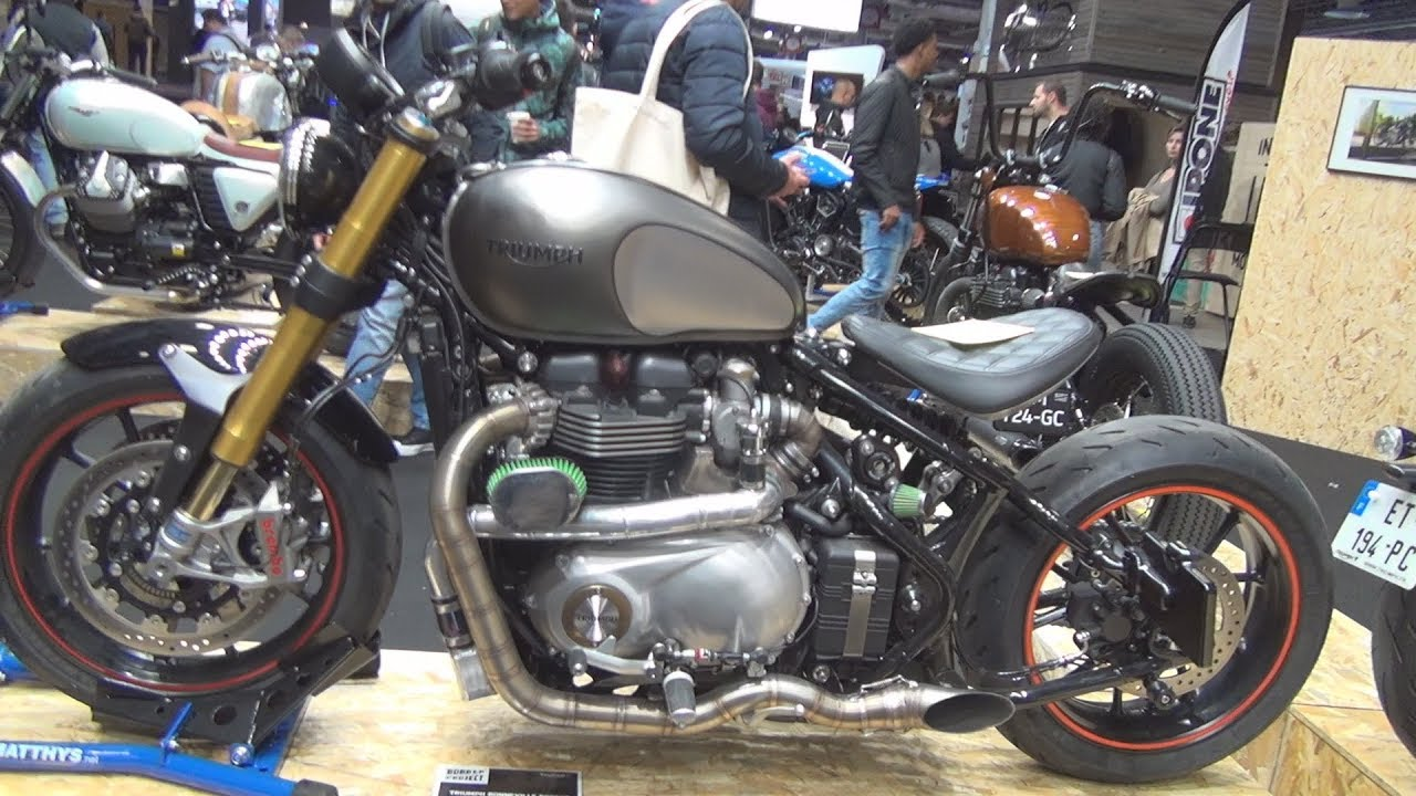 triumph bonneville bobber 1200 cc custom by triumph st maximin exterior and interior