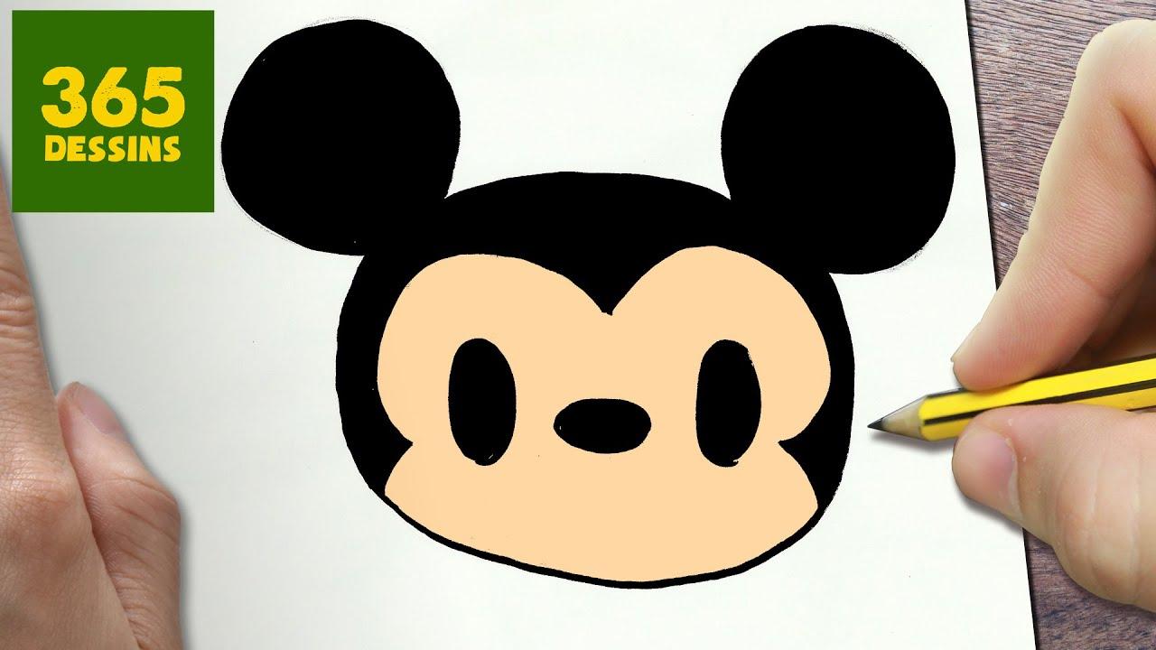 Comment Dessiner Mickey Mouse Kawaii Etape Par Etape Dessins Kawaii Facile Youtube