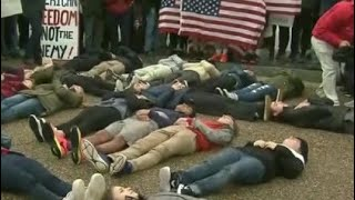 Web Extra: Group Of Teenagers Stage A Lie-In Outside The White House