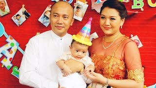 Thet Mon Myint & Her Son, Arr Chit's Birthday Donation