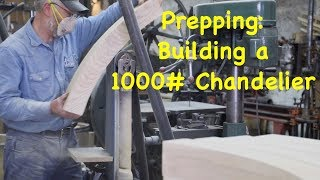 Prepping to Build a 1000# Chandelier Wood Wheel | Engels Coach Shop