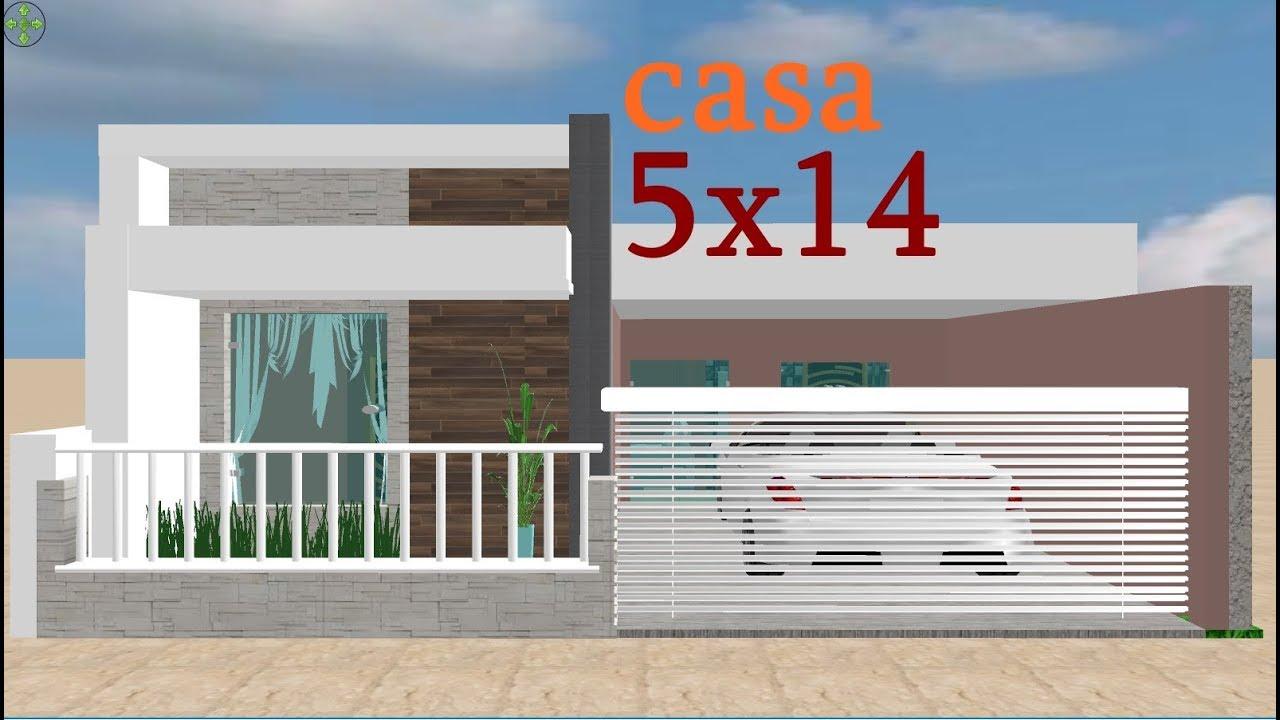 Download planta 3d para casa 5x14/3d house plan 5x14  012