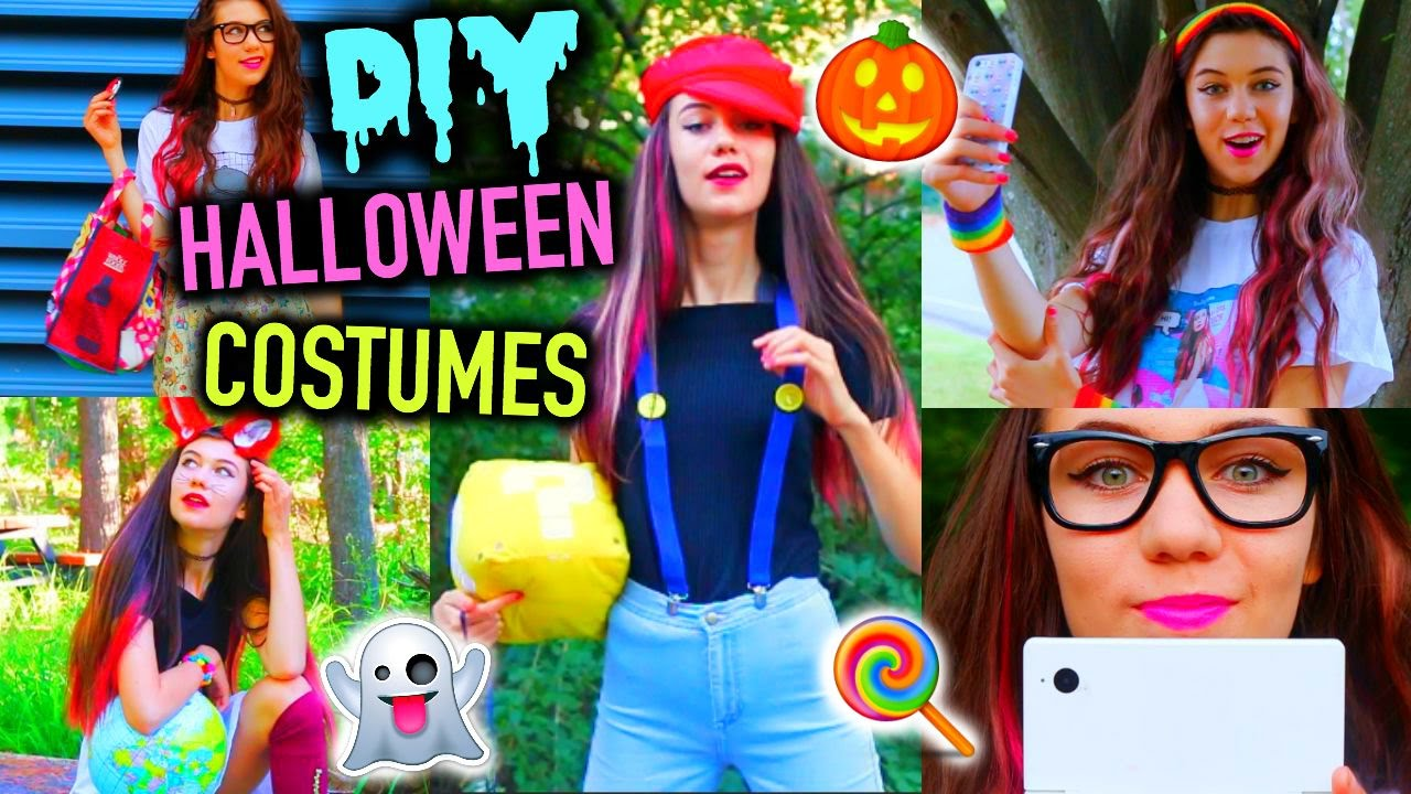 diy clever last minute halloween costume ideas cheap and easy youtube - Easy Homemade Halloween Costumes Teens