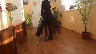 Женская черна Юбка фатиновая в пол без подклада. Юбка съемная для дополнения любого платья.