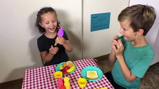 Learn English Words! Pretend Play Food! Restaurant!