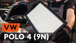 Montavimo Variklio oro filtras VW POLO: vaizdo pamokomis