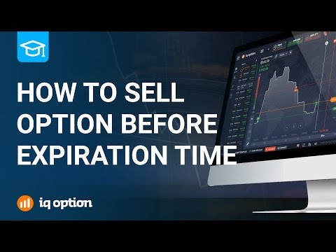 How to sell options before the expiration time