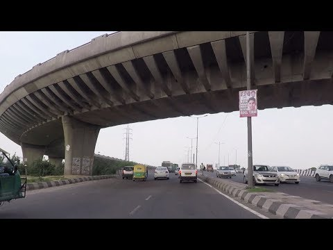 Driving on Outer Ring Road - Delhi, India 2017