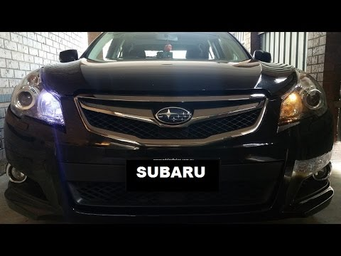 How to change parking globes to LED in subaru liberty/legacy
