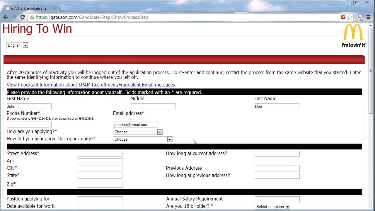 job application mcdonalds best online resume builder best resume job application mcdonalds mcdonalds application jobs careers online mcdonalds application online video