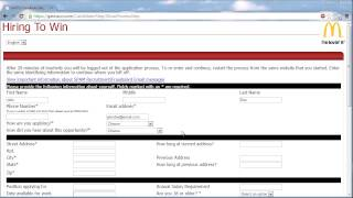 McDonalds Application Online Video