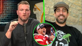 Aaron Rodgers Tells Pat McAfee Why Patrick Mahomes Is So Great.