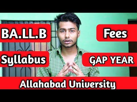 au law entrance    allahabad university law BA.ll.b fees   allahabad university entrance exam 2020