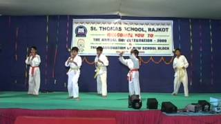 Saint Thoms School Demonstration Nayan Chavda - Shotokan School of Karate Rajkot
