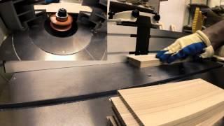 Изготовление кухонного фасада из натурального  массива дерева(Изготовление кухонного фасада и криволинейного шаблона для него., 2015-08-24T19:04:09.000Z)