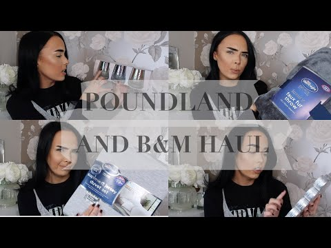 Poundland and B&M Haul | NEW IN 2019