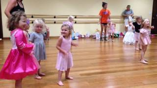 Rhodes gives her ballet camp performance