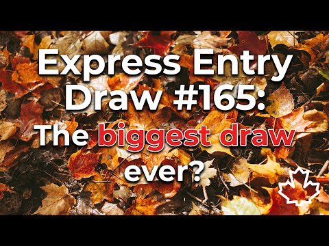 Express Entry Draw | October 14 — tied as largest draw in history!