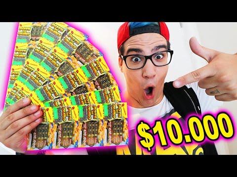 GASTEI $100 EM RASPADINHA ( PRÉMIO DE $10.000 )