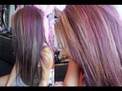 Dying My Hair Dark Purple With Highlights Vpfashion