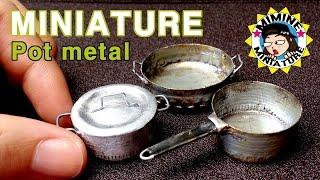 미니어쳐 금속냄비 만들기(병뚜껑!!) miniature - Pot metal