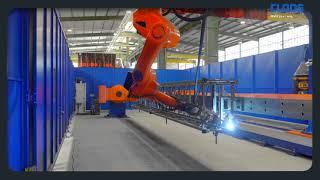CLOOS-Roboter schweißen Drehleitern für Hubrettungsfahrzeuge