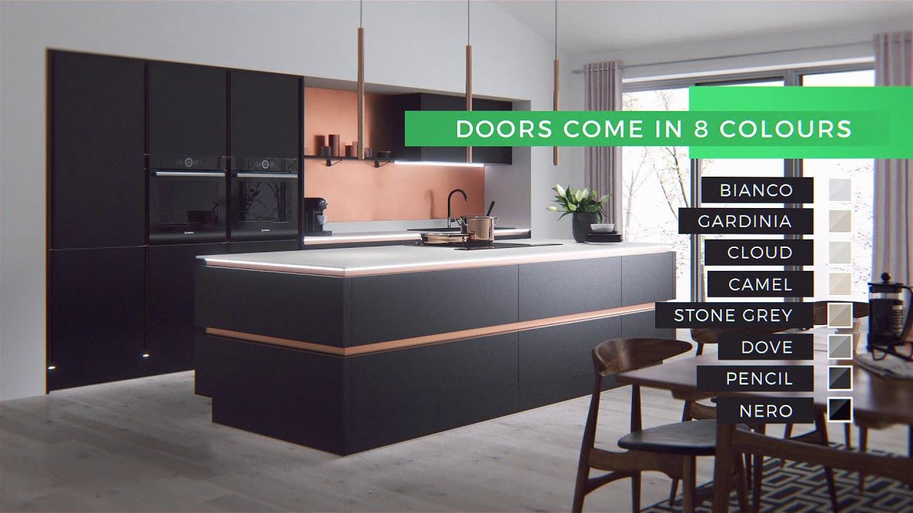 Wren Kitchens Milano Ultra The True Handleless Linear Kitchen Youtube