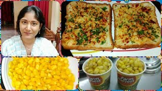 Download MALL STYLE MASALA SWEET CORN| GARLIC BREAD|2 PERFECT EVENING KIDS SNACK VARIETIES|IN TELUGU |#SNACKS Mp3 and Videos
