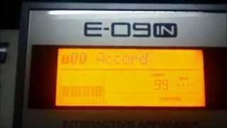 Roland E09 IN Rhythm, Style, Tempo and Transpose Tutorial