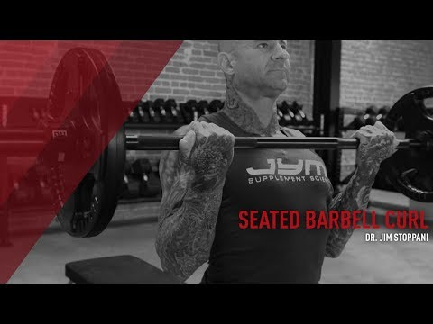 Best Overall Mass Builder For The Biceps: Seated Barbell Curl