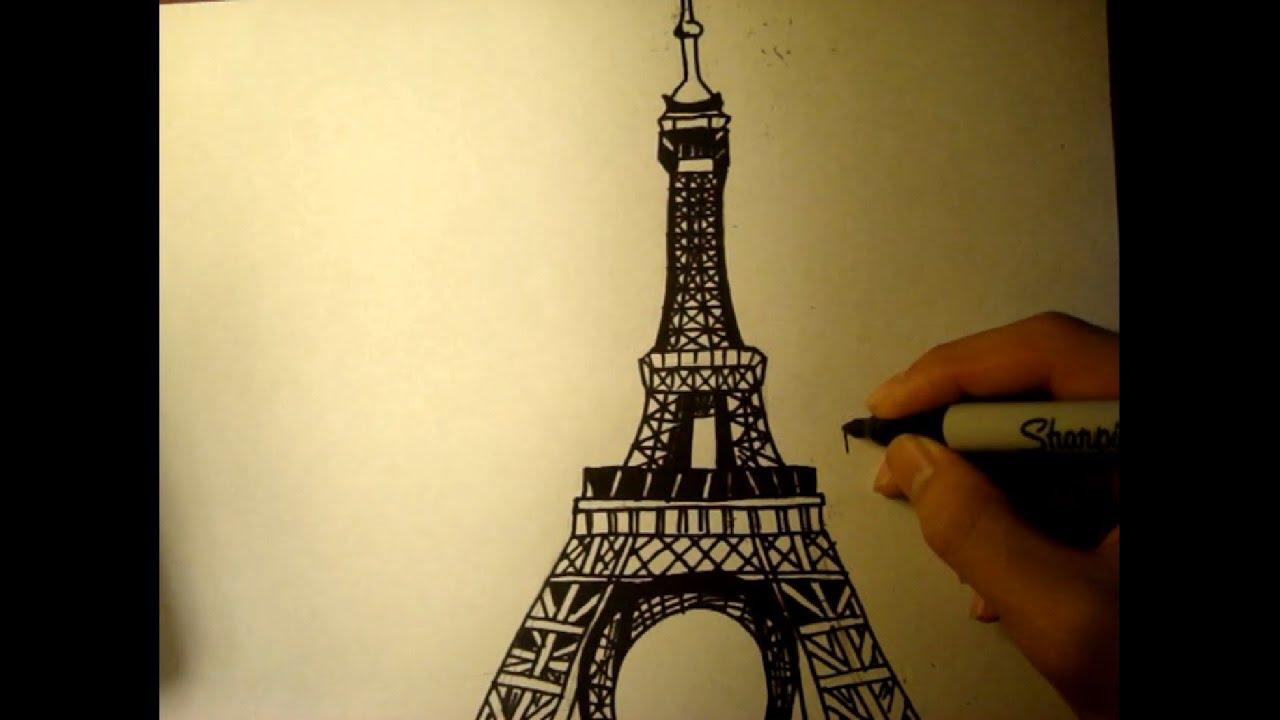 Free Drawing Lesson Draw Eiffel Tower Easy