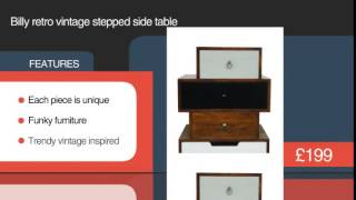 Billy Retro Vintage Staggered Side Table - Briggs And Jones