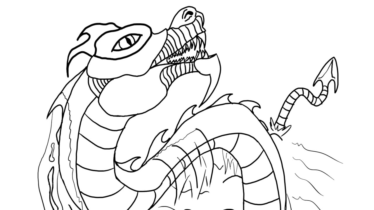 The Leviathan Coloring Page Timelapse Youtube