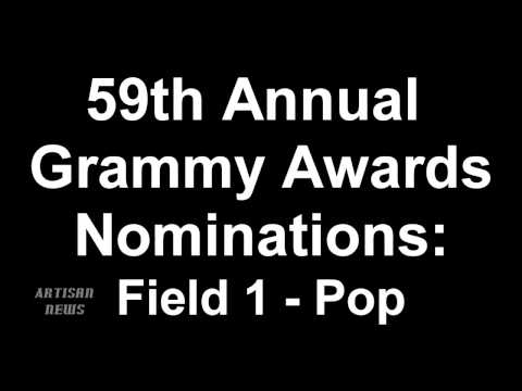 59th Annual Grammy Awards Pop Music Nominees