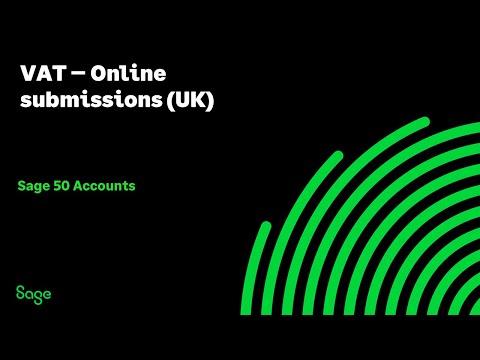Sage 50cloud Accounts (UK) - VAT - Online Submissions