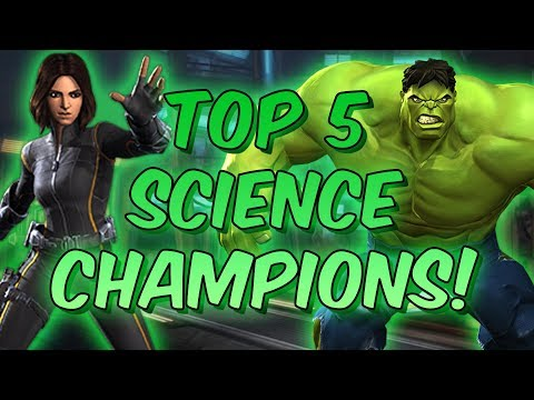 Top 5 Science Champions! - December 2017 - Marvel Contest Of Champions