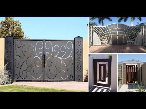 creative gate ideas 2018 . wrought iron and wooden driveway gates
