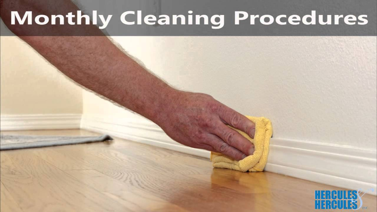 Cleaning Procedures And Supplies For By Hercules Inc